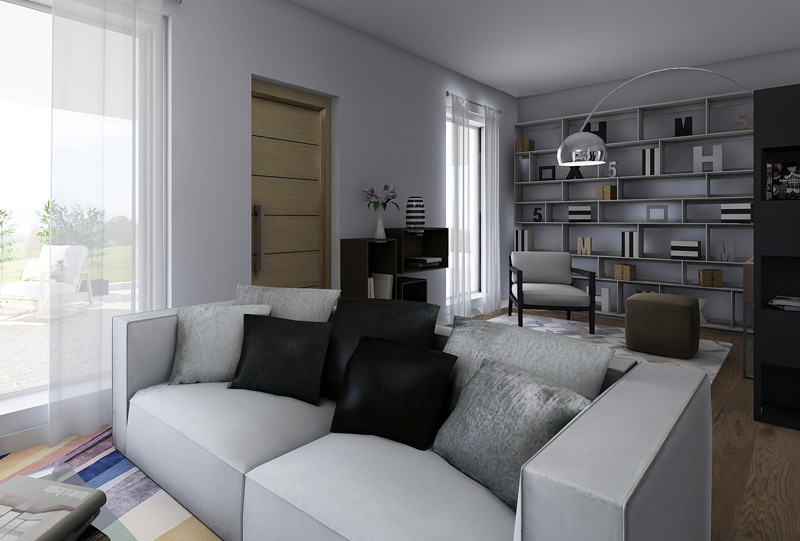 Progetto di Interior Design a Monza. Creazione di Open Space per unire, nella Zona Giorno, Cucina e Soggiorno
