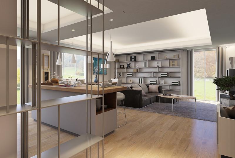 Progetto di Interior Design a Milano, Quartiere San Siro. Creazione di Open Space per unire, nella Zona Giorno, Cucina e Soggiorno